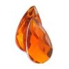 Acrylic 17x9mm Pear Shape Facet Orange